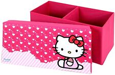 HELLO KITTY rectangle STOCKAGE BANC EN ROSE AVEC Kitty IMAGE OnTop par SANRIO