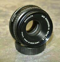 Minolta 45mm 2.0 MD Rokkor-X MD Mount Prime Manual Focus Pancake Lens