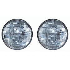 "7"" Halogen Sealed Beam Glass 12V Headlight Head Lamp Light Bulb Pair Img"