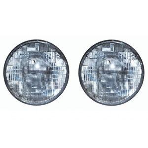 """7"""" Halogen Sealed Beam Glass 12V Headlight Head Lamp Light Bulb Pair Img"""