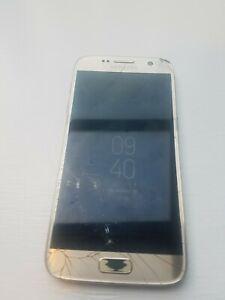 Samsung Galaxy S7 SM-G930U - 32GB - Gold Platinum (Unlocked) cell phone works