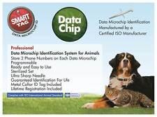 SmartTag DATA Microchip box (25) store info,  lifetime registration, metal tag