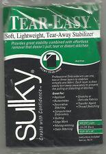 Sulky Tear-Easy -  Soft, light weight, tear-away stabiliser - BLACK