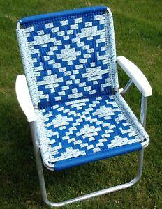 Vintage Aluminum Folding Chair Beach Lawn Patio Outdoor APHGAN multi color