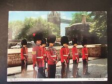 Postcard. Tower Guard, Tower of London. posted to Liverpool university 1979