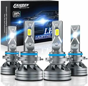 Fahren 9005/HB3 High Beam 9006/HB4 Low Beam LED Headlight Bulbs Combo, 20000 Lum