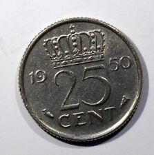 Monedas, PAÍSES BAJOS, Juliana, 25 Céntimos, 1950, SUP, Níquel, KM:183 AC 555