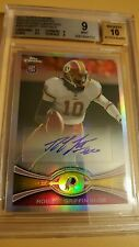 2012 Topps Chrome Robert Griffin III ROOKIE AUTO GRADED 9