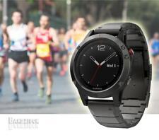 GARMIN Fenix 5 Watch Grey Sapphire Metal Band GPS HRM Sports Running Triathlon
