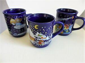 3 Weihnachtsbecher Becher Weihnachtsmotive Keramik