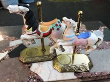 Willitts Carousel Horse Legends Of The Rose & Memories Lmt Edition Set Of 2