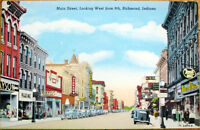 1930s Richmond, Indiana Postcard - Main Street - IN Ind