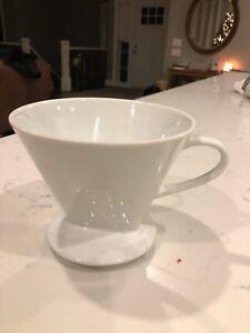 White Ceramic Pour Over Coffee Maker