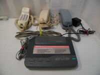 Radio Shack Conair Corded Home Telephone Phone Mate Answering System 3800 4 Pc