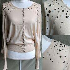 Free People Women's Rhinestone, Jewels + Studs Snap Button Shirt/Blouse Size XS
