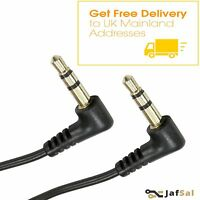 3.5mm Dual Right Angle Male Jack to Jack Stereo Audio Cable 1m Meter 2M  3M 5M