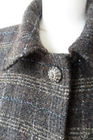 Dolce Gabbana D&G Boucle Tweed Blazer Jacke Glitzerfaden IT48 40 42 Topzustand