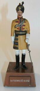"Sentry Box 5 1/2"" Military Metal Figure Officer 1st Skinners Horse 1960s/70s"