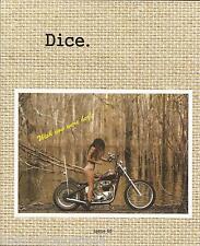 DicE magazine #65 magazine harley shovelhead panhead knucklehead chopper Triumph