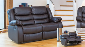 Seville Reclining 2 Seater Sofa, Brown - RRP £579.00