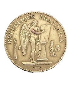 Monnaie 20 francs or genie 1878 A III ème Republique