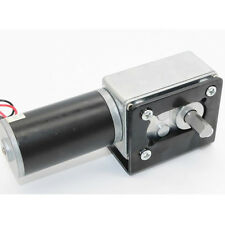 High Torque 12V DC DC Worm Geared Motor With Gear Reducer Turbo Motor 16RPM