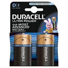 2 x Duracell Ultra Power D Type Alkaline Batteries Duralock - 1.5v LR20 MX1300