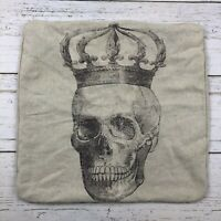 Vintage Style Dropcloth Skeleton Square Pillowcase Pillow Sham Halloween Decor