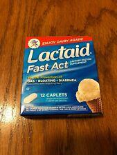 LACTAID FAST ACT 12 CAPLETS LACTASE ENZYME SUPPLEMENT EXPIRES 4/21