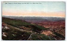 Early 1900s Sangre de Christo Range from Bull Hill, C.C. Short Line CO Postcard