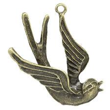 2 Pcs Charm Pendants Swallow Antique Bronze 4.2x2.9cm LC2322