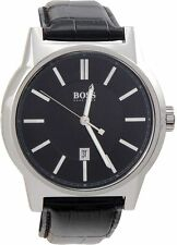 Hugo Boss HB-1512911 44mm Stainless Steel Case Patent Leather Mineral Watch