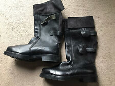 Brand New Mens Black Steel Toe Cap Boots Size 7 By Goliath