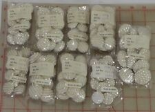 """108 vintage beaded buttons pearl white 7/8"""" 1"""" 1.25"""" silver AB bridal designer"""