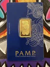 10 gram Gold Bar - PAMP Suisse - Lady Fortuna - 999.9 Gold in Sealed Assay
