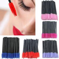 Women Disposable Eyelash Makeup Brushes Mascara Wands Lash Applicator 7 Color
