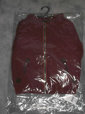 Mothercare Burgundy Lined Jacket 6-7Y up to 122cm Zip, Pockets, Hood, BNIP - £26