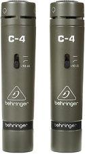 New Behringer Pair C-4 Condenser Microphones Buy it Now! Make Offer! Auth Dealer