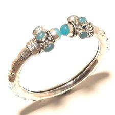 Chalcedony cuff Gemstone Handmade Silver Plated Jewellery