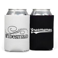 Bridesmaid and Groomsman Cloth Can Cooler Koozie Set
