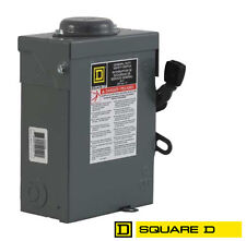 Square D DU222RB 60A 240VAC Unfused Disconnect 2 Pole for Solar Panel PV Arrays