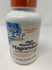 High Absorption Chelated Magnesium, Doctor's Best, 240 tablet 6/2021