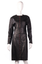 Jaeger leather dress with button detail size S