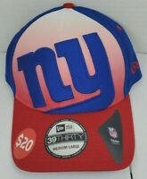 New York Giants NFL Gradation New Era 39Thirty Big Logo Fitted Hat Cap M/L