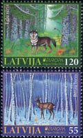 Latvia 2011 Europa/Forests/Trees/Wolf/Deer/nature/Animals/Wildlife 2v set lv1021
