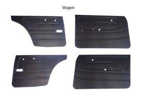 Datsun 510 68-73  Door Panel Card Set Wagon and 4 door Black NEW 1466