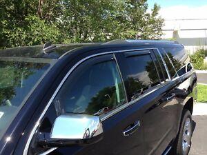 Window Visor Rain Guard In-Channel For GMC Yukon XL 2015-2020