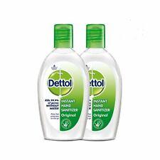 Dettol instant hand sanitizer 2X50ml Anti Bacterial Bag Size Bottle Free ship