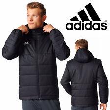 adidas Tiro 17 Winter Jacket Black Sports Hooded Bomber Full Zip Jacket