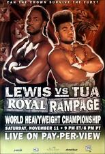Original Vintage Lennox Lewis vs. David Tua Boxing Fight Poster